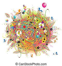Fröhliche Weihnachten, lustige Karte mit Ballons