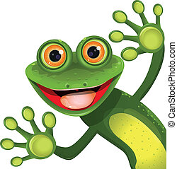 Fröhlichen grünen Frosch