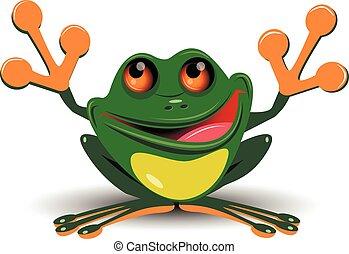 Fröhlicher Frosch.