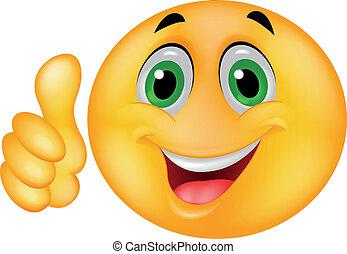 Fröhliches Smiley-Emoticon-Gesicht