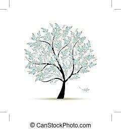 Frühlingsbaum mit Blumen für Ihr Design.