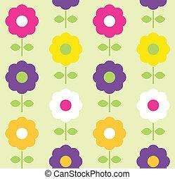 Frühlingsblüte nahtlos Muster Vektordesign