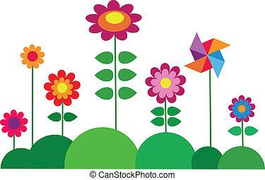 Frühlingsfarbene Blume