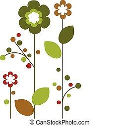 Frühlingsfarbene Blumen blühen, abstraktes Design -2.