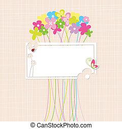 Frühlingsfarbene Blumengrußkarte