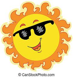 Frühlingssonne mit Sonnenbrille