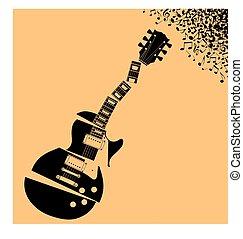 Fractured Gitarrenmusik Hintergrund.