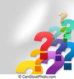 Fragen stellen häufig gestellte Fragen und Antworten dar.