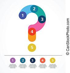 Fragezeichen abstrakter Hintergrund infographic.