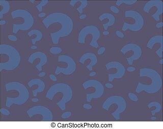 Fragezeichen-Ausbildung, Schulkonzept. Nahtlose Vektor EPS 10 Muster. Flat Style