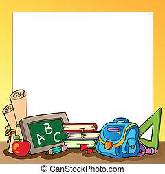 Frame mit Schulmaterial 1