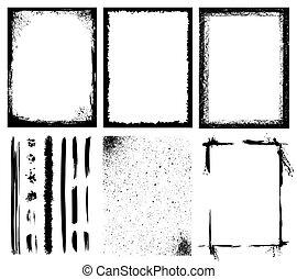 Frames, Texturen, Linien und Pinsel.