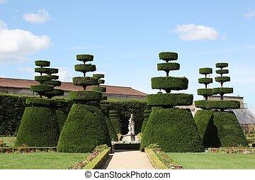 Französischer formeller Garten.