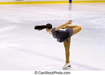 Frau Eiskunstläuferin