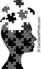 Frauen-Puzzle.