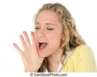 Frauen schreien