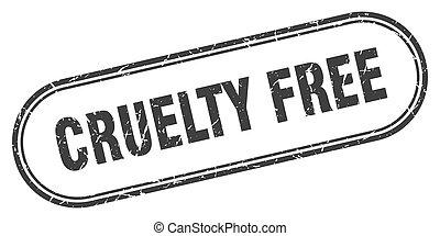 frei, grunge, grausamkeit, etikett, stamp., gerundet, zeichen., textured