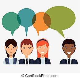 freigestellt, virtuell, rekrut, design, human resources