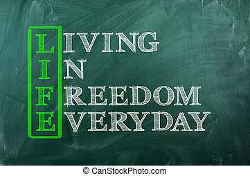 Freiheit.