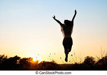 Freiheit, wunderschönes Mädchen