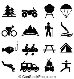 Freizeit- und Freizeit-Ikonen