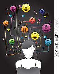 Freund-Sozialnetzwerk