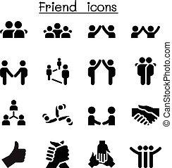 Freundschafts- und Beziehungssymbole.