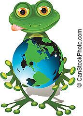 Frog und Globus