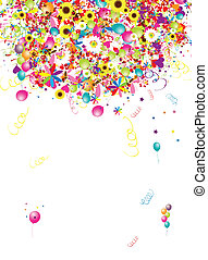 Frohe Feiertage, lustiger Hintergrund mit Ballons für dein Design
