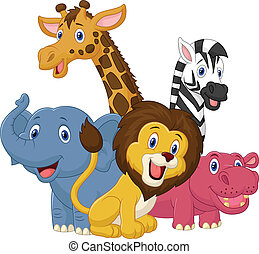 Frohe Safari-Trickfilm.