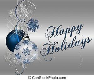Frohe Weihnachten - blau
