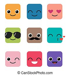 Frohes Emoji-Vektorset