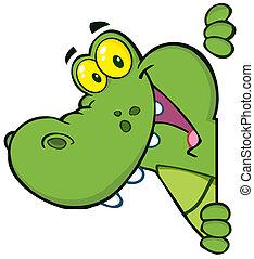 Frohes Krokodil