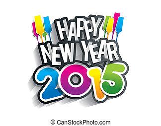 Frohes neues Jahr 2015.