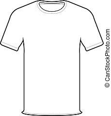 Front-T-Shirt Vektor