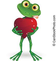 Frosch mit Herz.