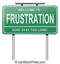 Frustrationskonzept.
