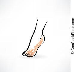Fuß-Ikone.