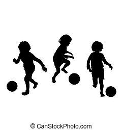 fußball, kinder, spielen