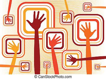 Funky-Hände-Design.