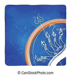 Göttin Durga tötet Mahishasura.