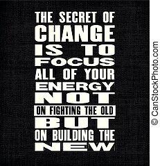 gebäude, alles, begeisternd, altes , text, energie, motivation, aber, fokus, geheimnis, vektor, kämpfen, notieren, not, new., poster., dein, änderung