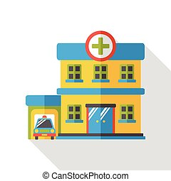 gebäude, wohnung, klinikum, ikone