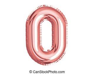 geburstag, dusche, baby, party, null, luft, gold, rose, feiern, zahl, balloon