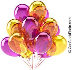 Geburtstagsballballballons Dekoration