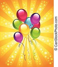 Geburtstagsballons.