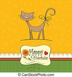 Geburtstagskarte mit lustiger Katze