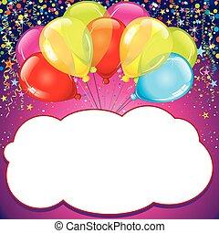 Geburtstagskarte. Vector
