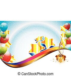 Geburtstagsparty-Schrift
