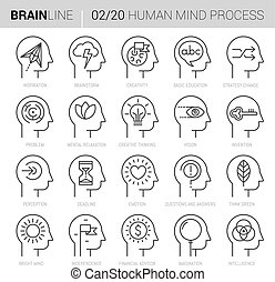 Gedanken-Prozess-Vektor-Icons 2.